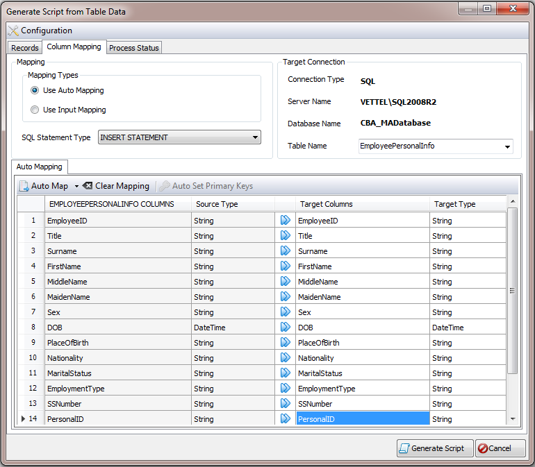 CrystalNet Database Tool